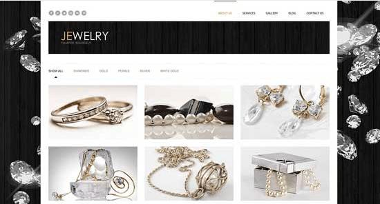 Temas para WordPress Joalheria - Jewelry