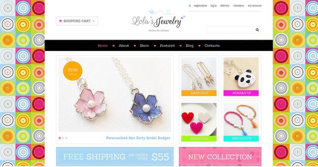 Temas para WordPress Joalheria - Lola's Jewelry