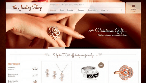 Temas para WordPress Joalheria - The Jewelry Shop
