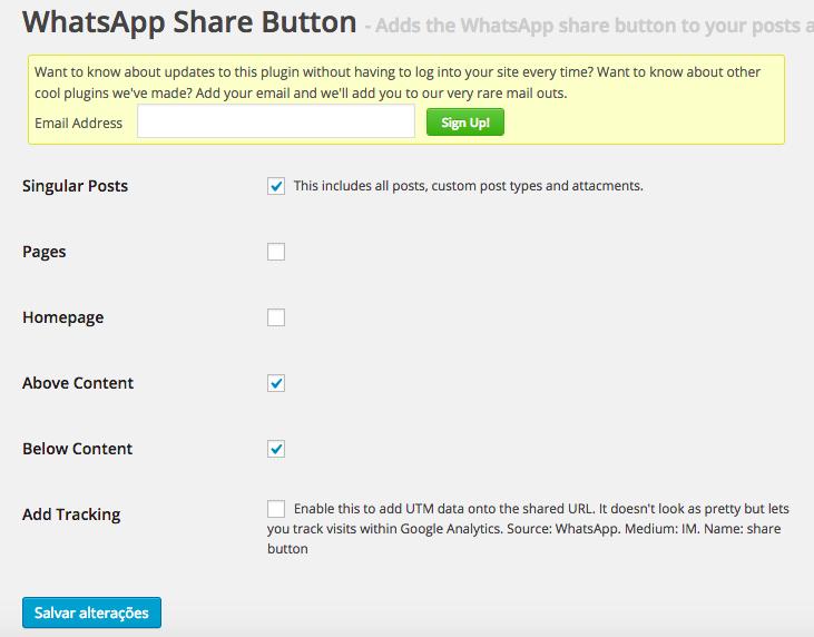 WhatsApp e WordPress - Configuração do Plugin WhatsApp Share Button