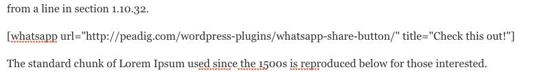 WhatsApp e WordPress - Shortcode no Editor de Texto