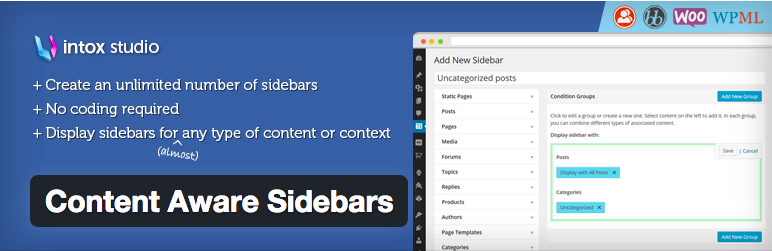 Widget Plugins WordPress - Content Aware Sidebars
