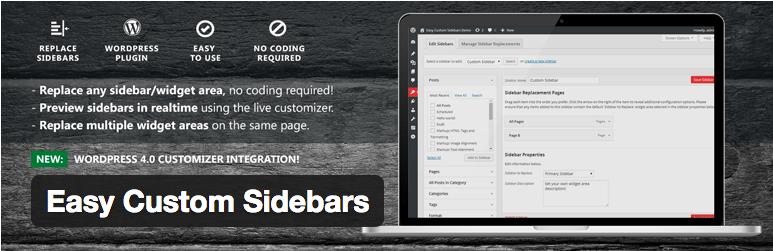 Widget Plugins WordPress - Easy Custom Sidebars