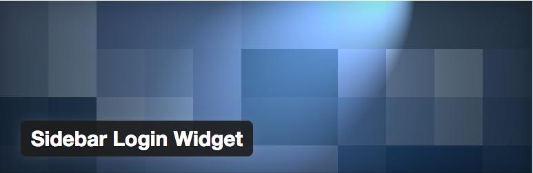 Widget Plugins WordPress - Sidebar Login Widget