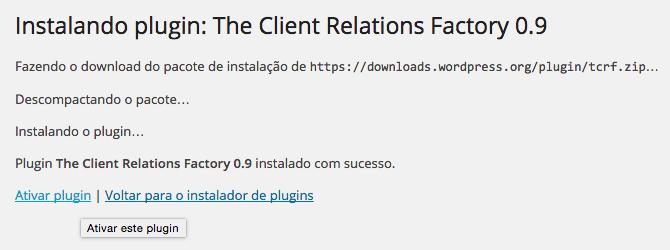 WordPress Virtual Assistant - Instalação e Ativação do The Client Relations Factory