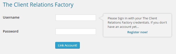 WordPress Virtual Assistant - Login The Client Relations Factory