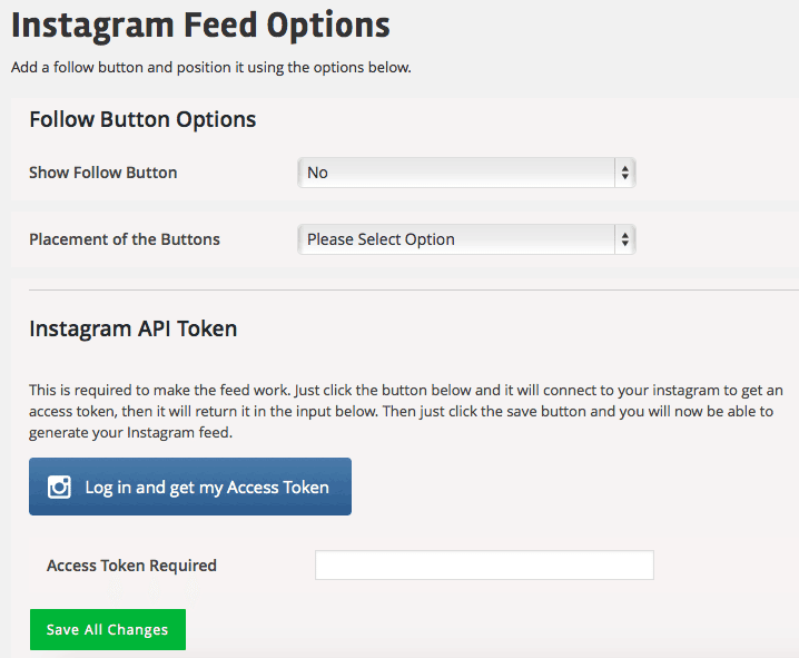 Feed Social WordPress - Configurações Instagram