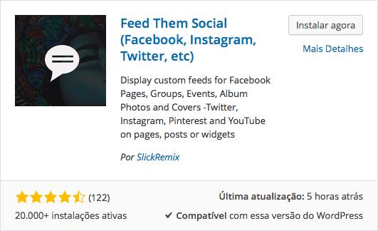 Feed Social WordPress - Download e Instalação do Feed Them Social