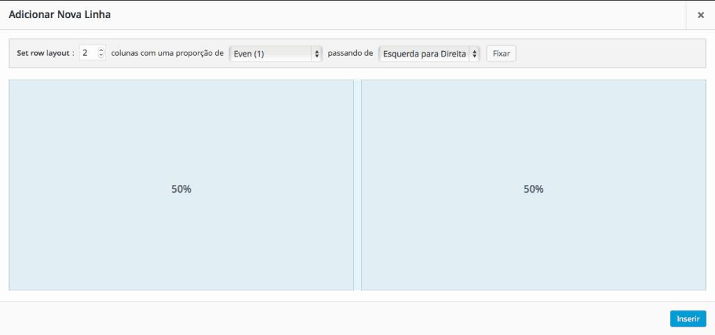Page Builder by SiteOrigin - Configuração de Row