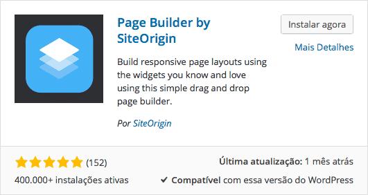 Page Builder by SiteOrigin - Download e Instalação