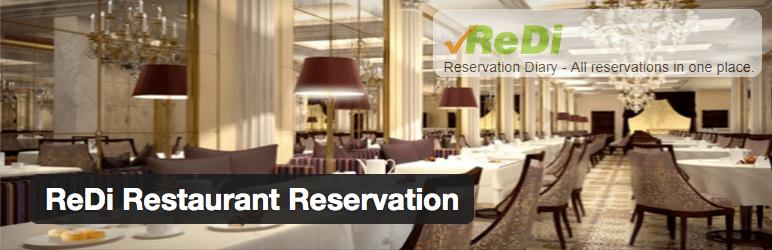 Plugins WordPress Restaurantes - ReDi Restaurant Reservation