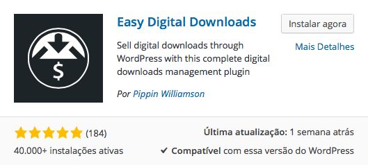 Digital Downloads WordPress - Download e Instalação Easy Digital Downloads