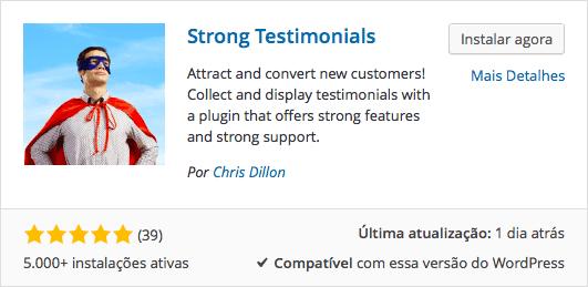 Download e Instalação WordPress Depoimentos com Strong Testimonials
