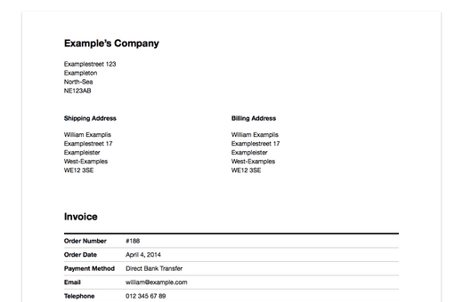 Plugin WooCommerce Print Invoice
