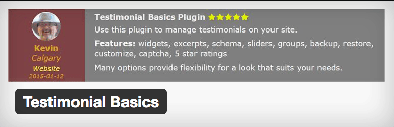 Plugins Depoimentos WordPress - Testimonial Basics