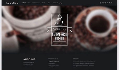 Temas WordPress Restaurante - Auberge