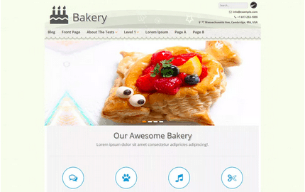 Temas WordPress Restaurante - Bakery