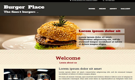 Temas WordPress Restaurante - Burger