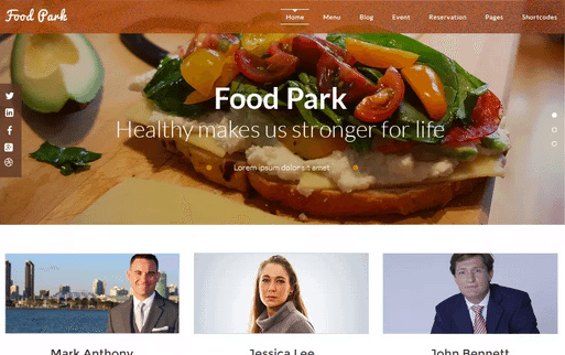 Temas WordPress Restaurante - Food Parker