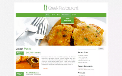 Temas WordPress Restaurante - Greek Restaurant