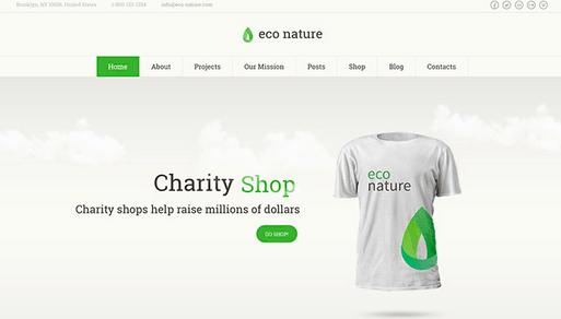 Temas WordPress Verde - Eco Nature