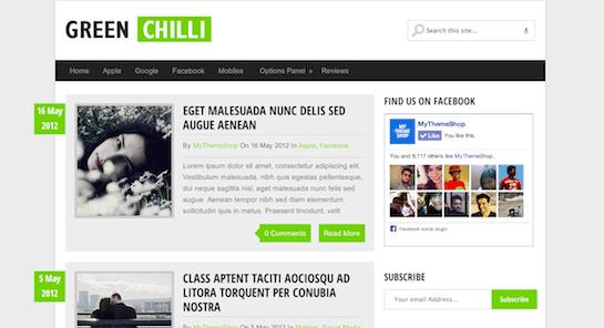 Temas WordPress Verde - Green Chilli