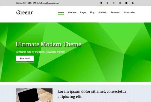 Temas WordPress Verde - Greenr