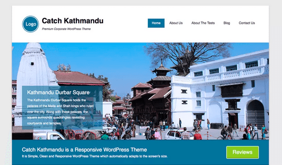 Themes WordPress Travel Free - Catch Kathmandu