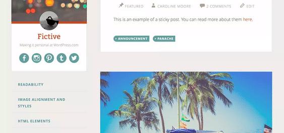 Themes WordPress Travel Free - Fictive