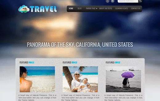 Themes WordPress Travel Free - Travel