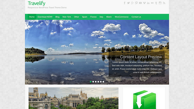 Themes WordPress Travel Free - Travelify