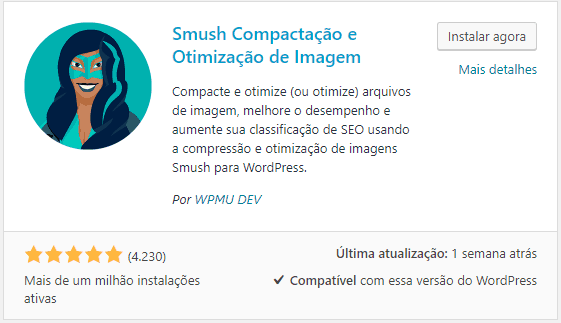 WP Smush - Baixando e Ativando Plugin WordPress