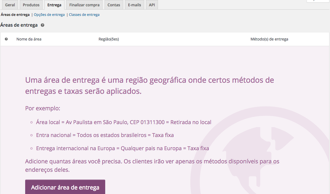 WooCommerce Plugin - Entrega