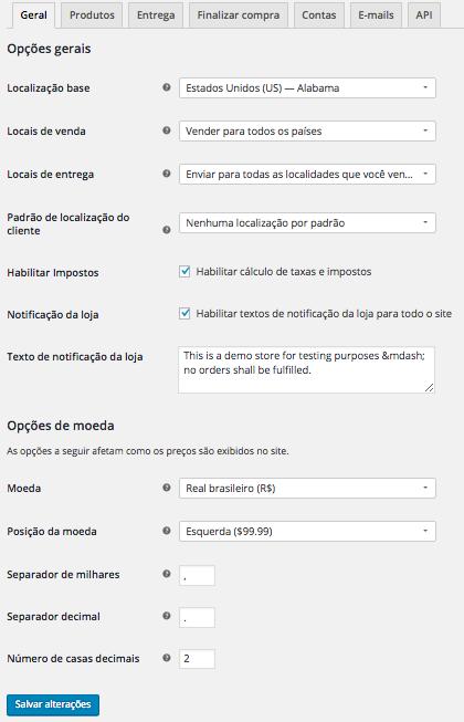 WooCommerce Plugin - WooCommerce Configuracoes Iniciais