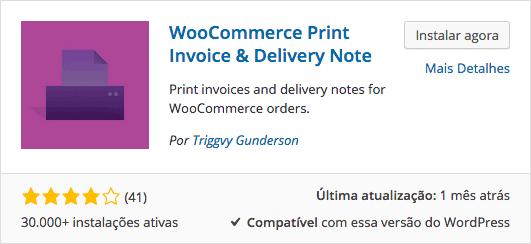 WooCommerce Print Invoice - Download e Instalação