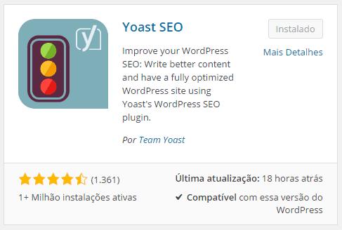Instalar o Yoast SEO Plugin
