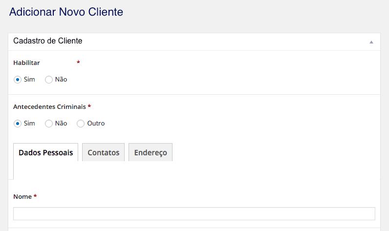 Importar e Exportar Posts Personalizados no WordPress - Cadastro de Cliente