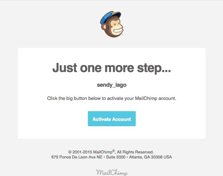 MailChimp no WordPress - Ativação de Conta pelo E-mail