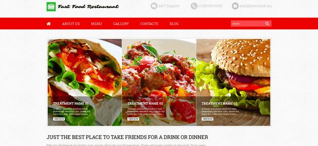 Temas Premium para Fast Food - Fast Food Restaurant