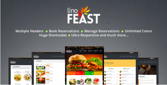 Temas Premium para Fast Food - LinoFeast