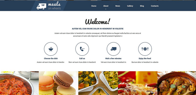 Temas Premium para Fast Food - Meals on Wheels