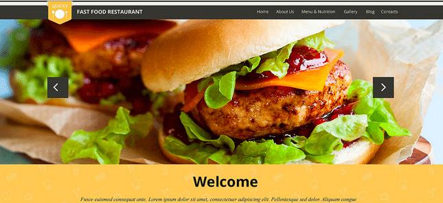 Temas Premium para Fast Food - Quick Snack