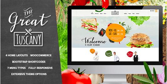 Temas Premium para Fast Food - Tuscany
