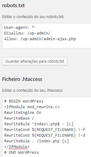 Yoast SEO - Ferramentas - Editor de Ficheiros