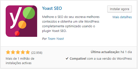 Yoast SEO - Instalacao do Plugin