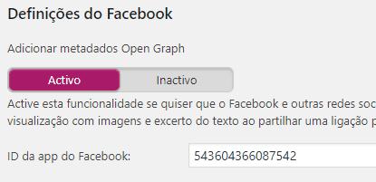 Yoast SEO - Redes Sociais - Facebook Inserindo ID do APP