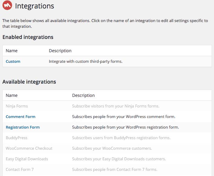 Capturas-de-Email-MailChimp-for-WordPress-Integração-com-outros-formulários