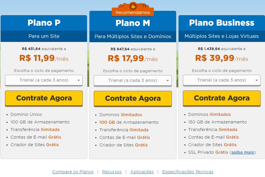 9c3004436a5 Criar Blog WordPress Hospedagem WordPress Tabela Precos