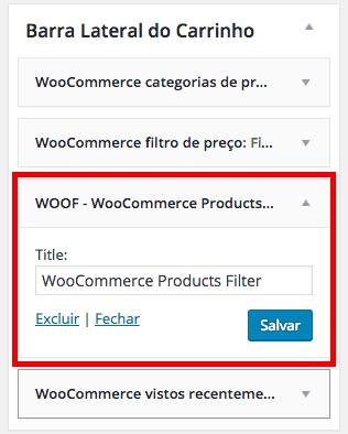 Filtro para Produtos no WooCommerce Adicionando aos Widgets WooCommerce Products Filter