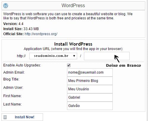 Hostgator cPanel Quickinstall WordPress Final